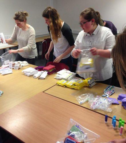 Preparing the Care Packs